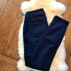 Wit&Wisdom size 4 polka dot skinny jeans/jeggings